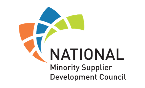 Orange, blue, and green National Minority Supplier Development Council logo